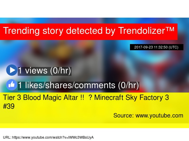 Tier 3 Blood Magic Altar !! ✪ Minecraft Sky Factory 3 #39